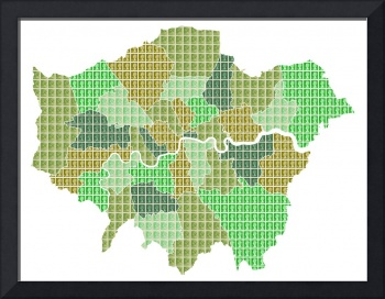 London Map Green