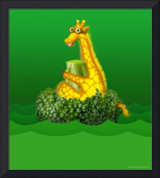 Giraffe and Broccoli