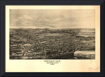 1894 Presque Isle, ME Bird's Eye View Panoramic Ma