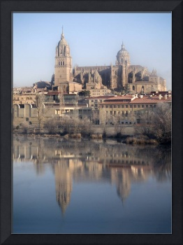 Cathedral of Salamanca and its reflection on the T