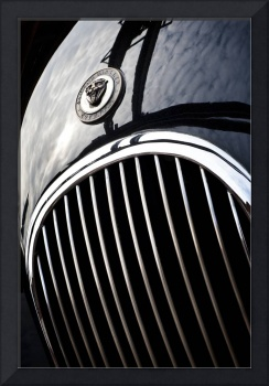 Jaguar XK bonnet detail.