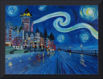 Starry night at Château Frontenac Quebec Canada