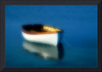 Rustic wooden row boat, Cape Cod
