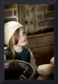 Young Tudor kitchen maid