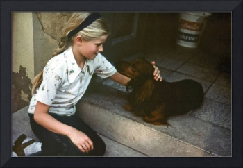 Anna Ruth with German Dog, 1977