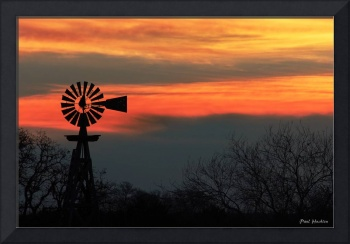 Texas Hill Country Morning: Windmill Sunrise