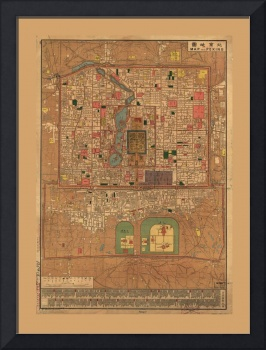Map of Beijing (Peking), China (1914)