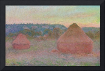 Haystacks, End of Day, Autumn by Claude Monet