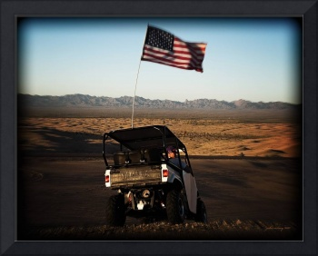 American Flag and Dune Buggy