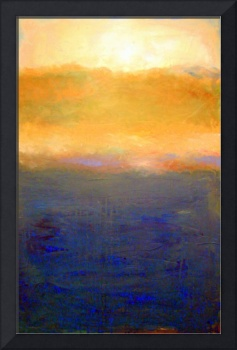 Abstract Sunset over Lake Michigan