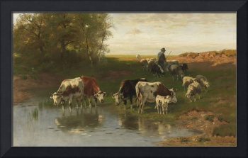 Christian Friedrich Mali - cattle herder at the fo