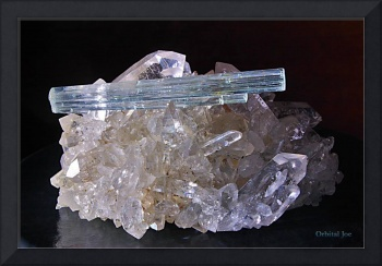 Aquamarine on Quartz