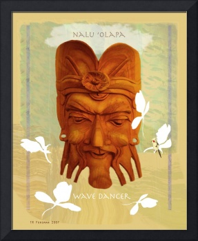 Hawaii mask 'nalu olapa' 'wave dancer' lighter ver