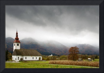 Church just outside Bohinjska Bistrica