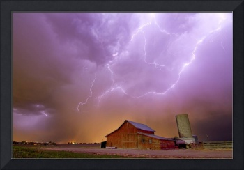 Red Barn on a Farm and What a Beautiful Sight