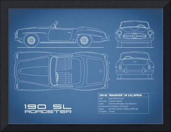 Mercedes 190SL Blueprint