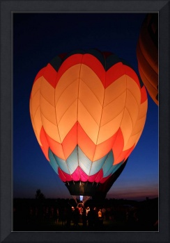hot air color in the night
