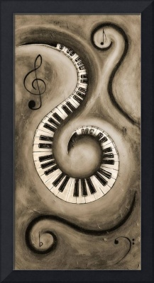 Black 6 - Swirling Piano Keys - Music In Motion