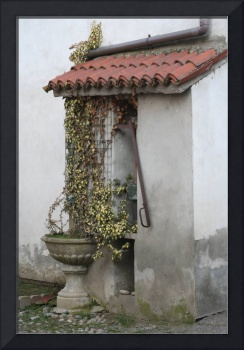 Fountain in small country of lomellina