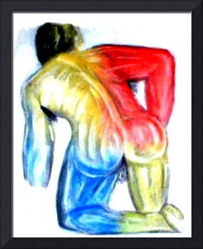 Naked Man Red & Blue by Chip Fatula