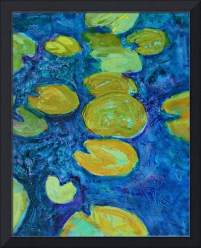 Turquoise Waters 2, Abstract Waterlily Series