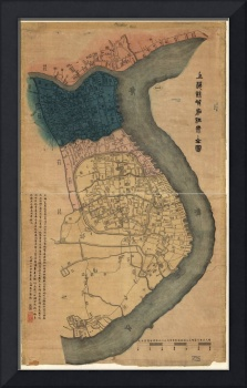 Map of Shanghai, China (1884)
