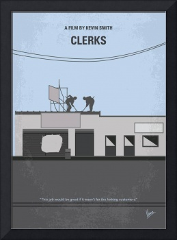 No715 My Clerks minimal movie poster