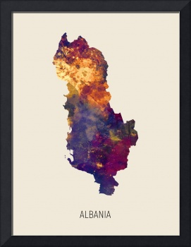 Albania Watercolor Map