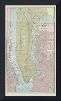 Vintage Map of New York City (1901)