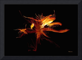 37d Fiery Expressive Abstract Painting