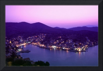 Symi at Dusk, Greece