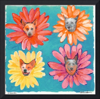 Groovy Gals Dog Portrait by RD Riccoboni