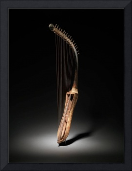 Historical Egyptian Arched Harp Photograph (1295 B