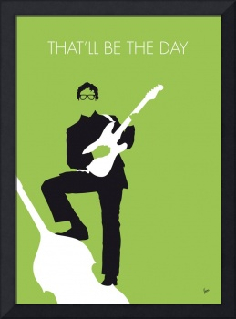 No056 MY BUDDY HOLLY Minimal Music poster