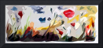 Abstract Flowers Landscape Panorama
