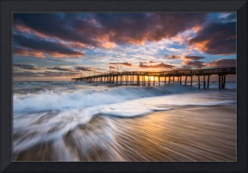 North Carolina Outer Banks Seascape Nags Head Pier
