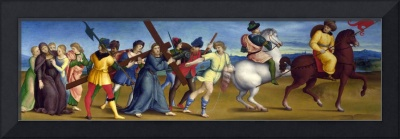 Raphael~The Procession to Calvary by Raphael