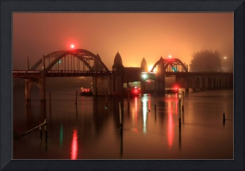 Siuslaw River Bridge at Night