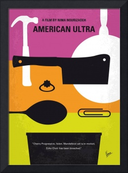 No827 My American Ultra minimal movie poster