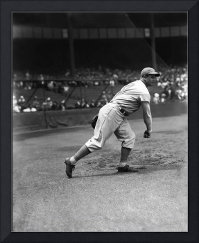 Jimmie Foxx warming up