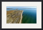 Hardings Beach & Stage Harbor Lighthouse Aerial by Christopher Seufert