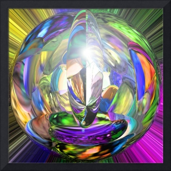 Crystal Ball in Rainbow Colors