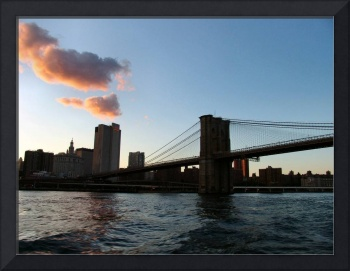 Brooklyn Bridge at Sunset from a Distance