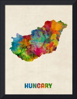 Hungary Watercolor Map
