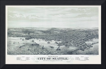 Seattle Washington Panoramic Map