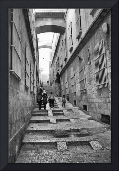 Nun's Ascent, a street in Old Jerusalem, Israel