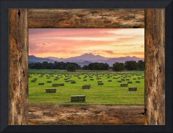 County Barn Wood Window View