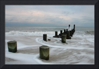 Old Pilings in the Surf - Cape May Beach, NJ