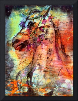Arabian Stallion Expressive Art by Ginette