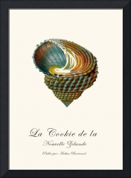 Sea shell beach french vintage art poster
